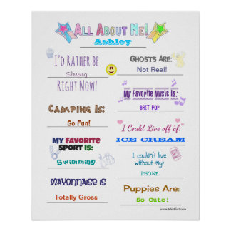 The All About Me Quiz Poster