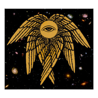 The All Seeing Eye of Providence in Gold Poster