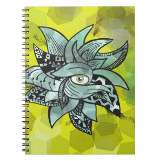 The all seeing eye pretty doodle vibrant backgroun notebook