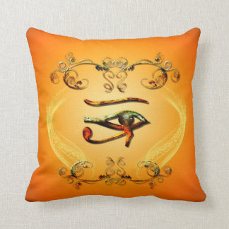 The all seeing eye throw pillows