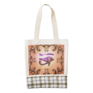 The all seeing eye zazzle HEART tote bag