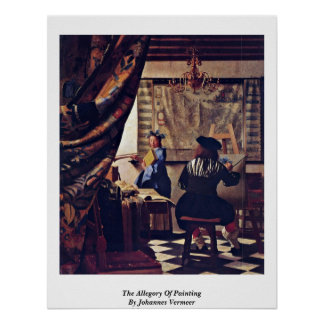 The Allegory Of Painting By Johannes Vermeer Poster