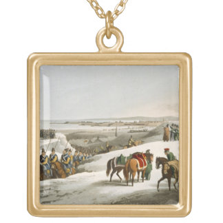 The Allies before Dantzic in Winter, engraved by M Gold Plated Necklace