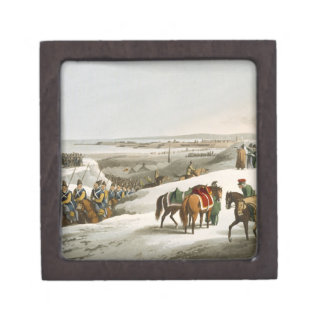 The Allies before Dantzic in Winter, engraved by M Jewelry Box