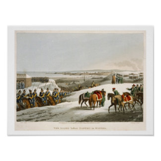 The Allies before Dantzic in Winter, engraved by M Poster