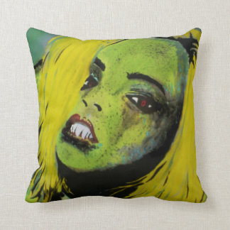'The Alligator Girl of Cypress Swamp' Amer Throw Pillow
