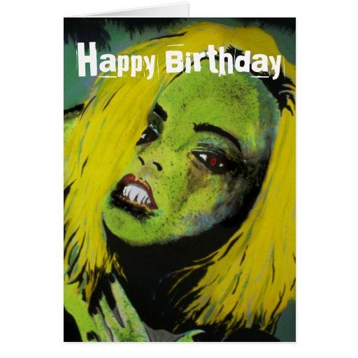 'The Alligator Girl of Cypress Swamp' Birthday Car Greeting Card