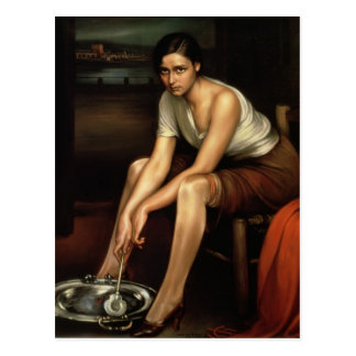 The Alluring Young Girl Postcard