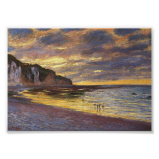 The Ally Point, Low Tide - Claude Monet Poster