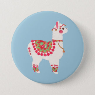The Alpaca Pinback Button