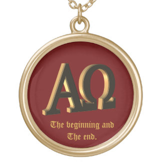 The alpha and the omega necklace