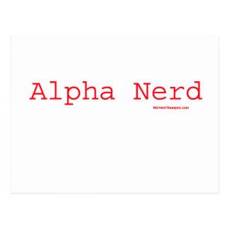 The Alpha Nerd Postcard