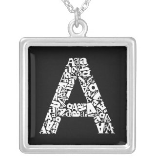 The Alphabet Letter A Silver Plated Necklace
