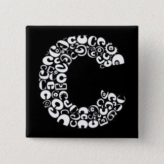 The Alphabet Letter C Pinback Button