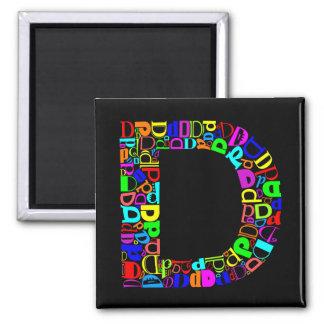 The Alphabet Letter D Magnet