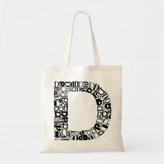 The Alphabet Letter D Tote Bag