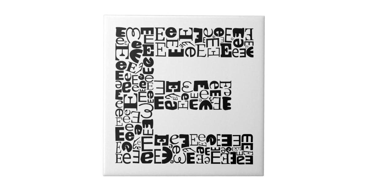 The Alphabet Letter E Ceramic Tile Zazzle