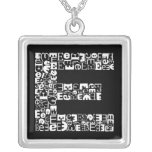 The Alphabet Letter E Silver Plated Necklace