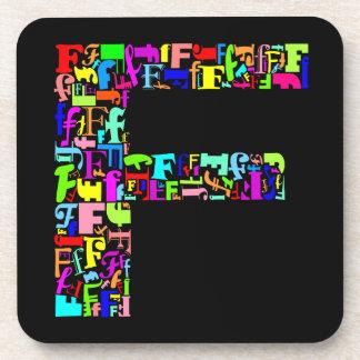 The Alphabet Letter F Drink Coaster