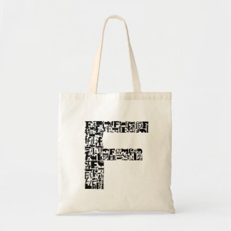 The Alphabet Letter F Tote Bag