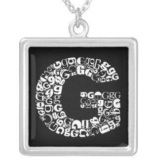 The Alphabet Letter G Silver Plated Necklace