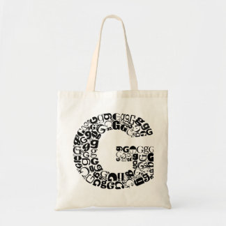 The Alphabet Letter G Tote Bag