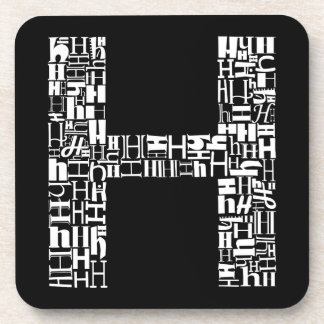 The Alphabet Letter H Coaster