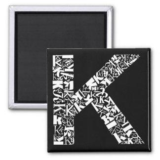 The Alphabet Letter K Magnet
