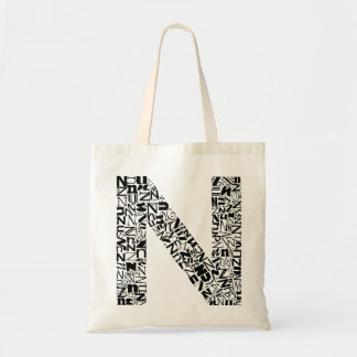 The Alphabet Letter N Tote Bag