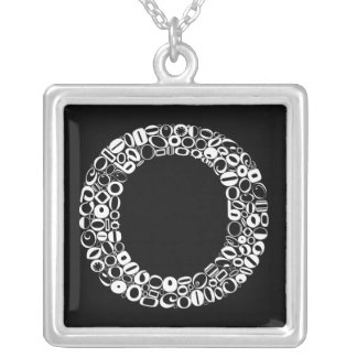 The Alphabet Letter O Silver Plated Necklace