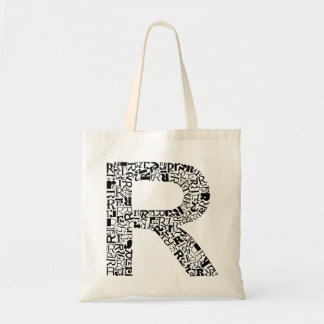 The Alphabet Letter R Tote Bag