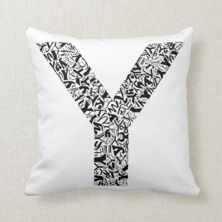 The Alphabet Letter Y Throw Pillow