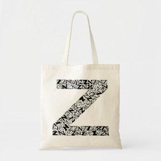 The Alphabet Letter Z Tote Bag