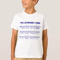 The Alphabet Song (ABCD's) Kid's T-Shirt