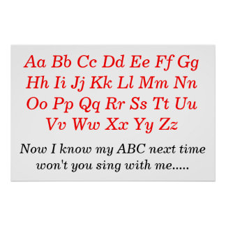 The Alphabet Song Poster