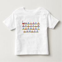 The Alphabet Train Toddler T-shirt