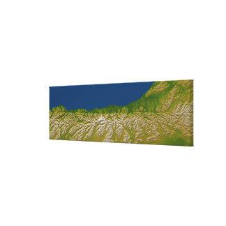 The Alpine fault along the west coast Canvas Print