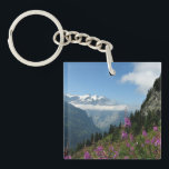 "The Alps, Beautiful Landscape Photo Keychain<br><div class=""desc"">The Swiss Alps,  beautiful landscape photograph,  mountain peaks with wildflowers in the foreground</div>"