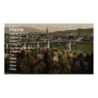 The Alps, Berne, Switzerland vintage Photochrom Business Card Template