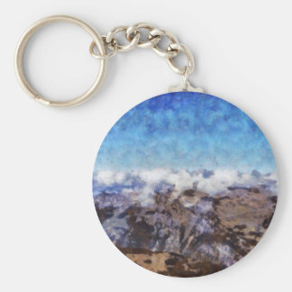 The Alps from overhead Basic Round Button Keychain
