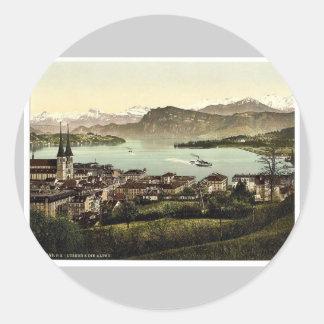 The Alps Lucerne Switzerland vintage Photochrom Stickers