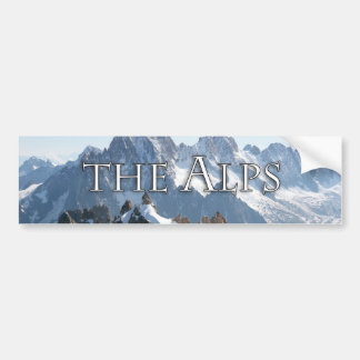 The Alps - Magnificent! Car Bumper Sticker