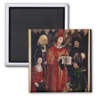 The Altarpiece of St. Vincent 2 Inch Square Magnet