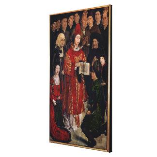 The Altarpiece of St. Vincent Canvas Print