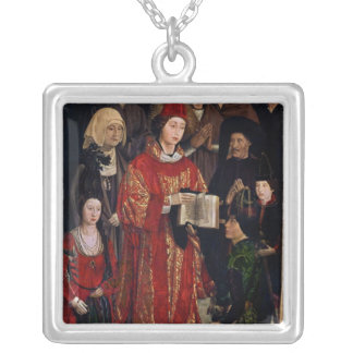 The Altarpiece of St. Vincent Silver Plated Necklace