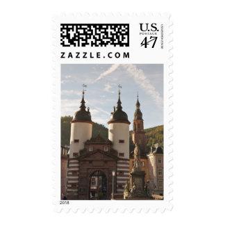 The Alte Brucke in Old Town, Heidelberg, Germany Postage