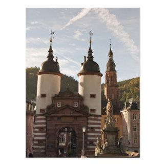The Alte Brucke in Old Town, Heidelberg, Germany Postcard