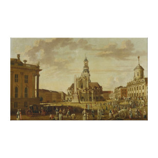 The Alter Markt with the Church of St. Canvas Print