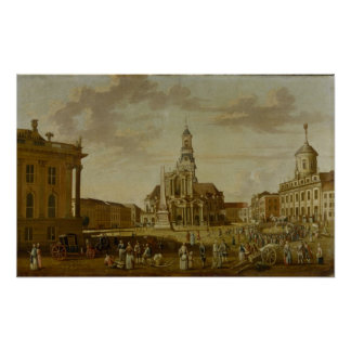 The Alter Markt with the Church of St. Poster