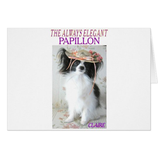 THE ALWAYS ELEGANT PAPILLON CARD